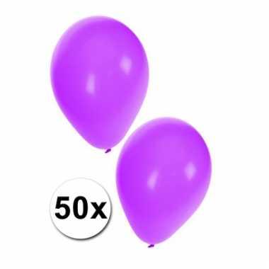 Paarse feest ballonnetjes 50x