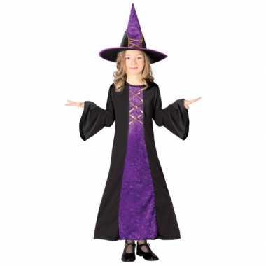 Paarse heksen jurk kinderen