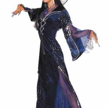 Paarse heksenkleding dames