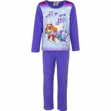 Paarse paw patrol pyjama voor meisjes