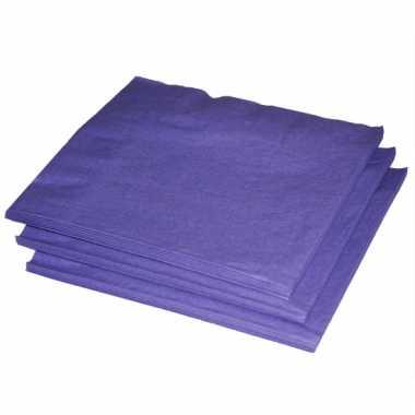 Paarse servetten 20 stuks