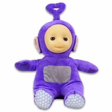 Paarse teletubbie tinky winky knuffel/pop 26 cm