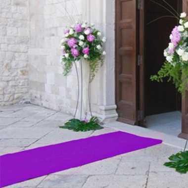 Paarse versiering lopers 1 meter breed