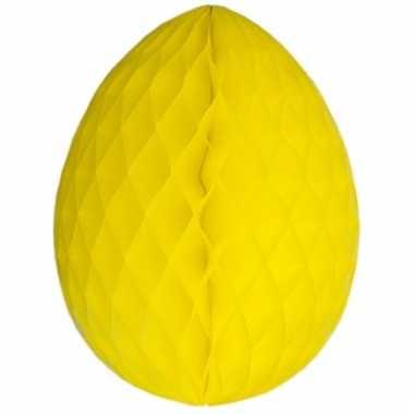 Paas deco ei geel 20 cm brandvertragend