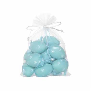 Paastak eieren lichtblauw 12 stuks
