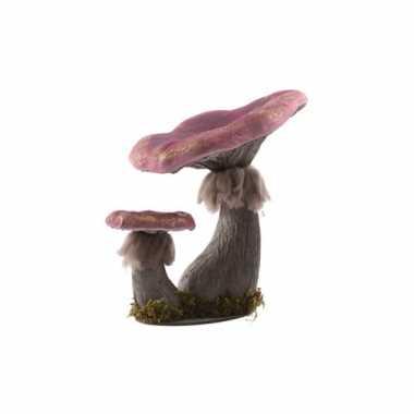Paddestoelen decoratie paars