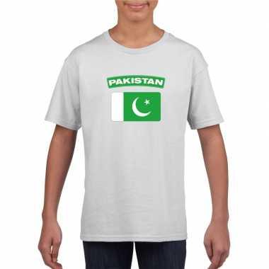 Pakistaanse vlag kinder shirt wit