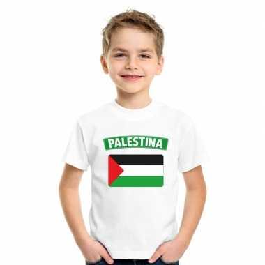 Palestijnse vlag kinder shirt wit