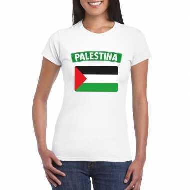 Palestijnse vlag shirt wit dames