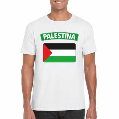 Palestijnse vlag shirt wit heren