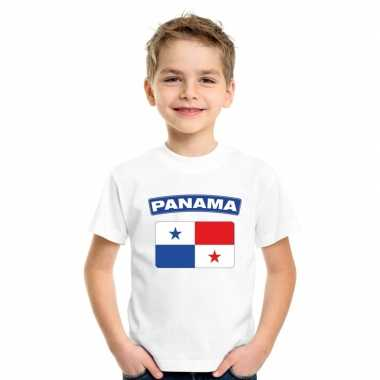 Panamese vlag kinder shirt wit