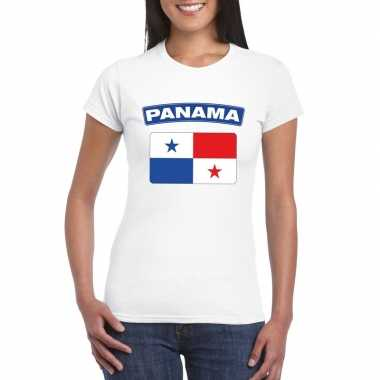 Panamese vlag shirt wit dames