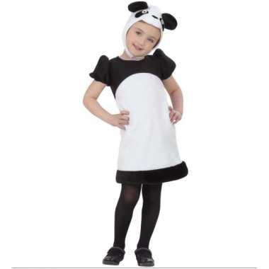 Pandabeer verkleedjurkje voor meiden