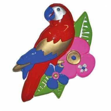 Papegaai wand versiering 60 cm