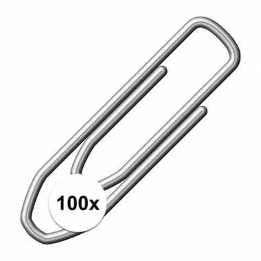 Papier clip 100 stuks metaal 21 mm