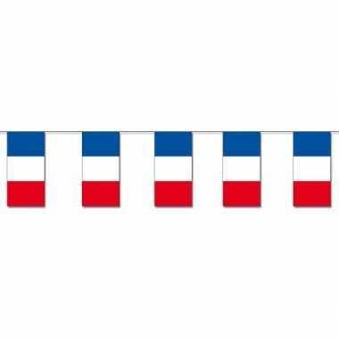 Papier slinger vlaggetjes frankrijk