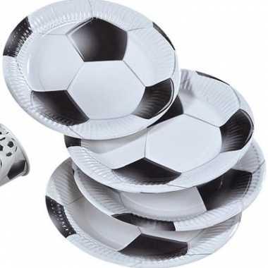 Papieren bordjes voetbal afdruk