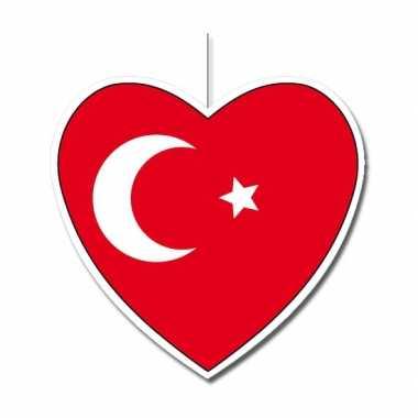 Papieren hart in turkse kleuren 30 cm