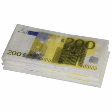 Papieren servetten 200 euro 10 stuks