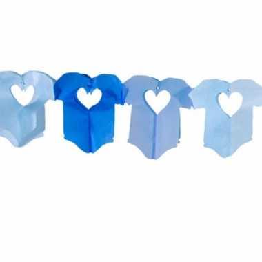 Papieren slinger met blauwe rompertjes