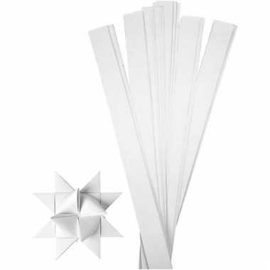 Papieren vouw stroken wit 73 cm