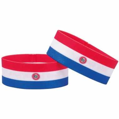 Paraguay fan armbandje