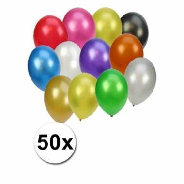 Party ballonnen metallic gekleurd