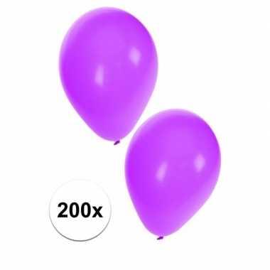 Party ballonnen paars, 200 st