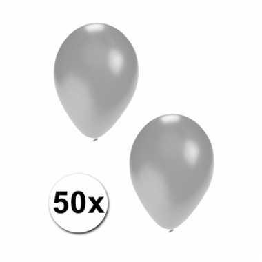 Party ballonnen zilver 50 st