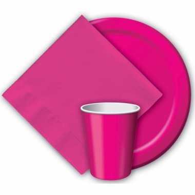 Party bekers fuchsia roze
