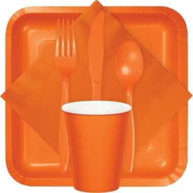 Party bekers oranje 8 stuks