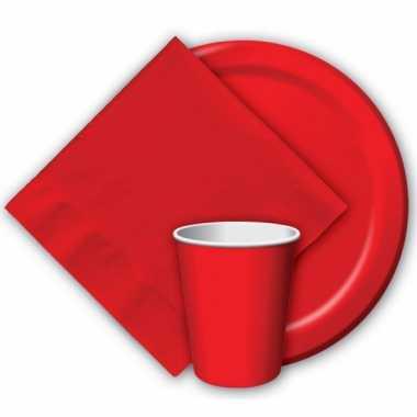 Party bekers rood 8 stuks