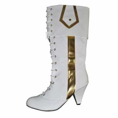 Party boots in het wit/goud