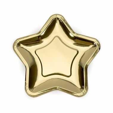 Party borden goud van karton 18 cm