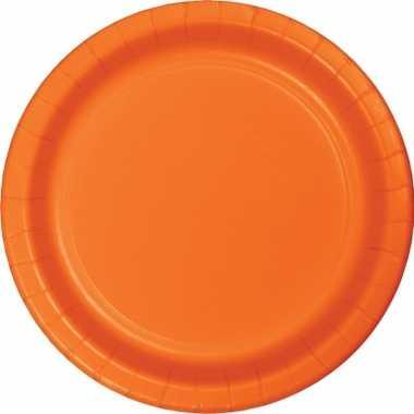 Party borden oranje 8 stuks