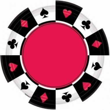 Party bordjes casino 8 stuks