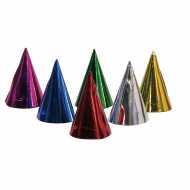 Party hoedjes in 6 kleuren