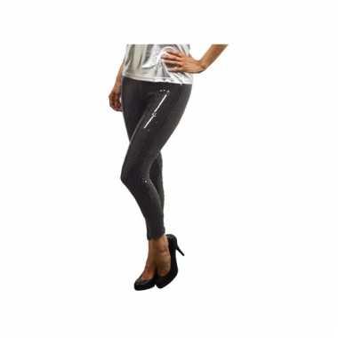 Party legging zwart met pailletten