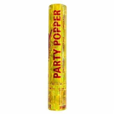 Party popper goud 28 cm