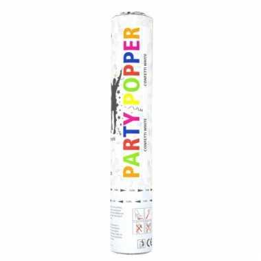 Party popper wit 28 cm