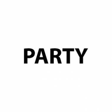 Party sticker a8 formaat