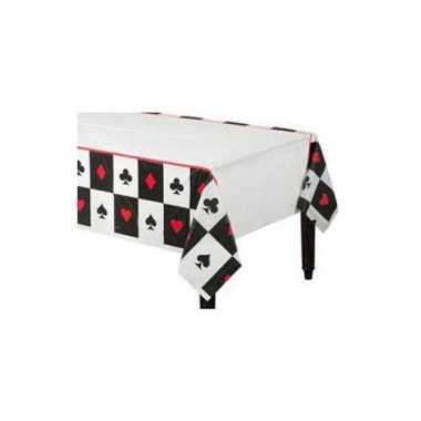 Party tafel kleed casino 8 stuks