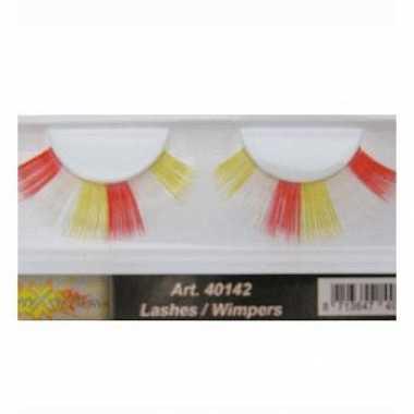 Party wimpers in het rood/wit/geel