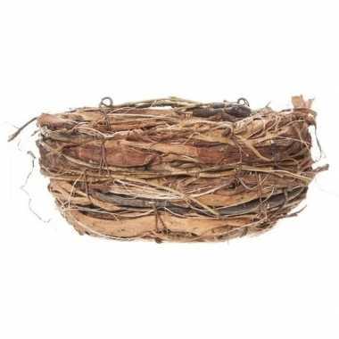 Pasen decoratie vogelnestje/paaseieren mandje 13 cm