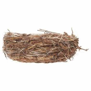 Pasen decoratie vogelnestje/paaseieren mandje 17 cm