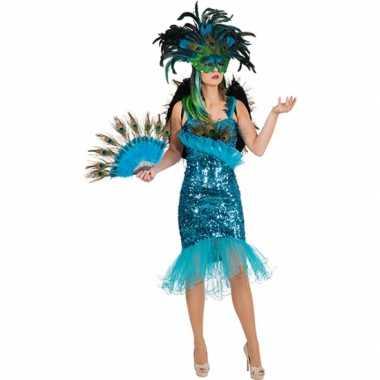 Pauwveren jurk