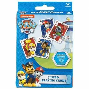 Paw patrol jumbo speelkaarten