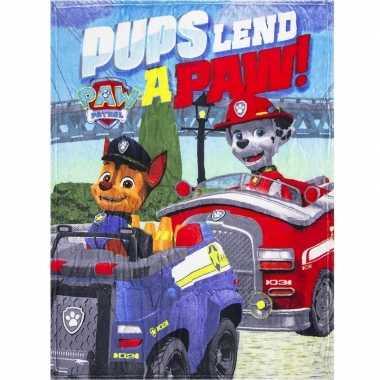 Paw patrol pups fleece deken voor jongens