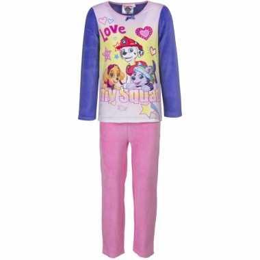 Paw patrol pyjama paars en roze voor meisjes