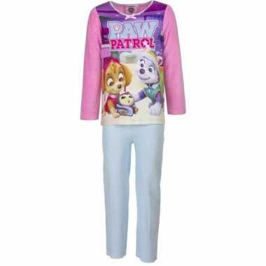 Paw patrol pyjama roze voor meisjes